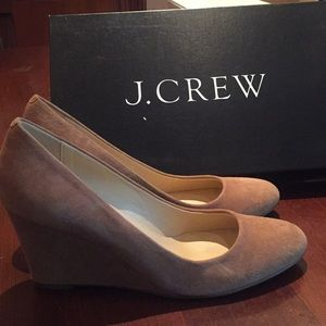 J Crew suede wedges
